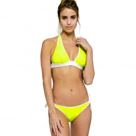 Sundek Bikini Top Giallo Fluo Donna