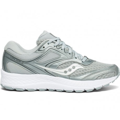 separation shoes 5ed10 e200a Running Saucony Scarpe Running Cohesion 12 Grigio Argento Donna S10...
