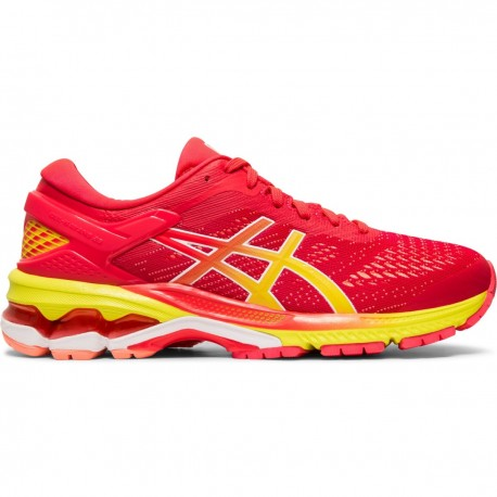 more photos 7758f 666e0 Running Asics Scarpe Running Gel -Kayano 26 Rosa Giallo Donna 1012A...