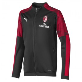 Calcio Puma Felpa Calcio Milan Poly Fz Nero Red Bambino