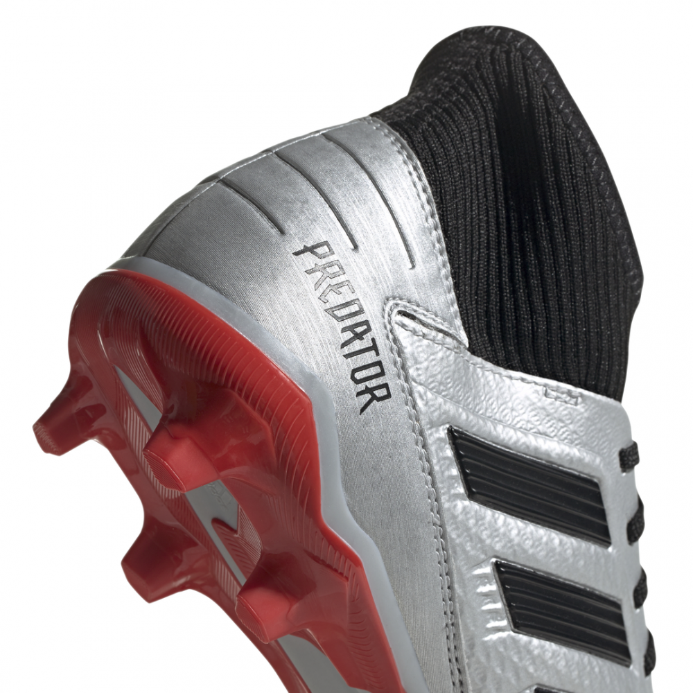 calcio ADIDAS scarpe da calcio predator 19.3 fg argento nero