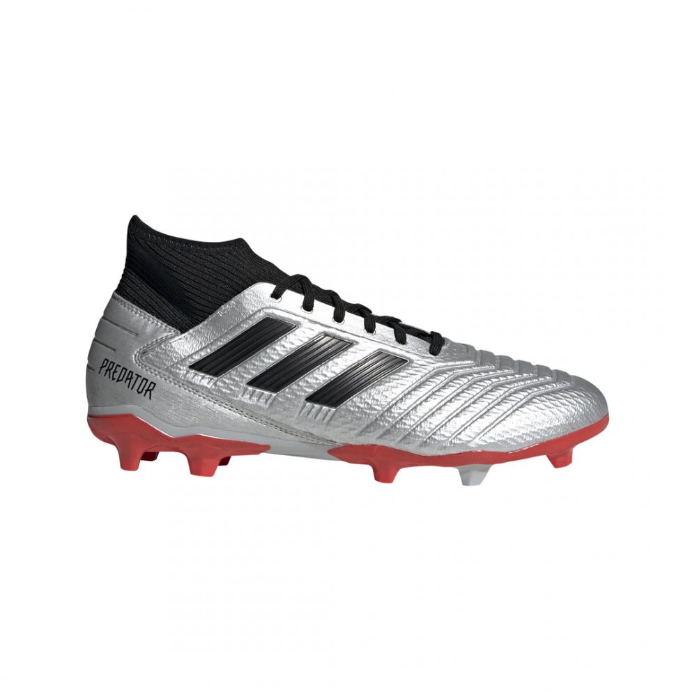 calcio ADIDAS scarpe da calcio predator 19.3 fg argento nero uomo f