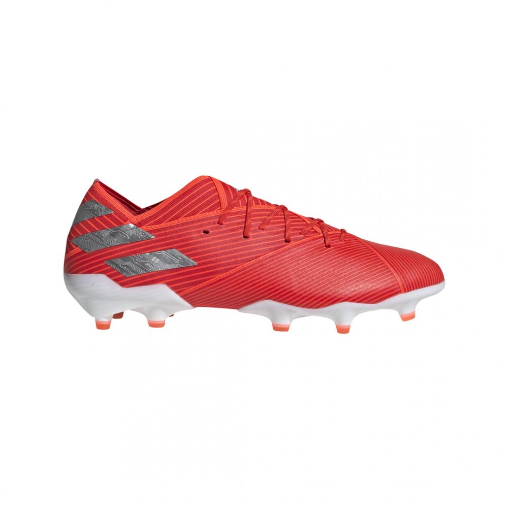 calcio ADIDAS scarpe da calcio nemeziz 19.1 fg rosso argento