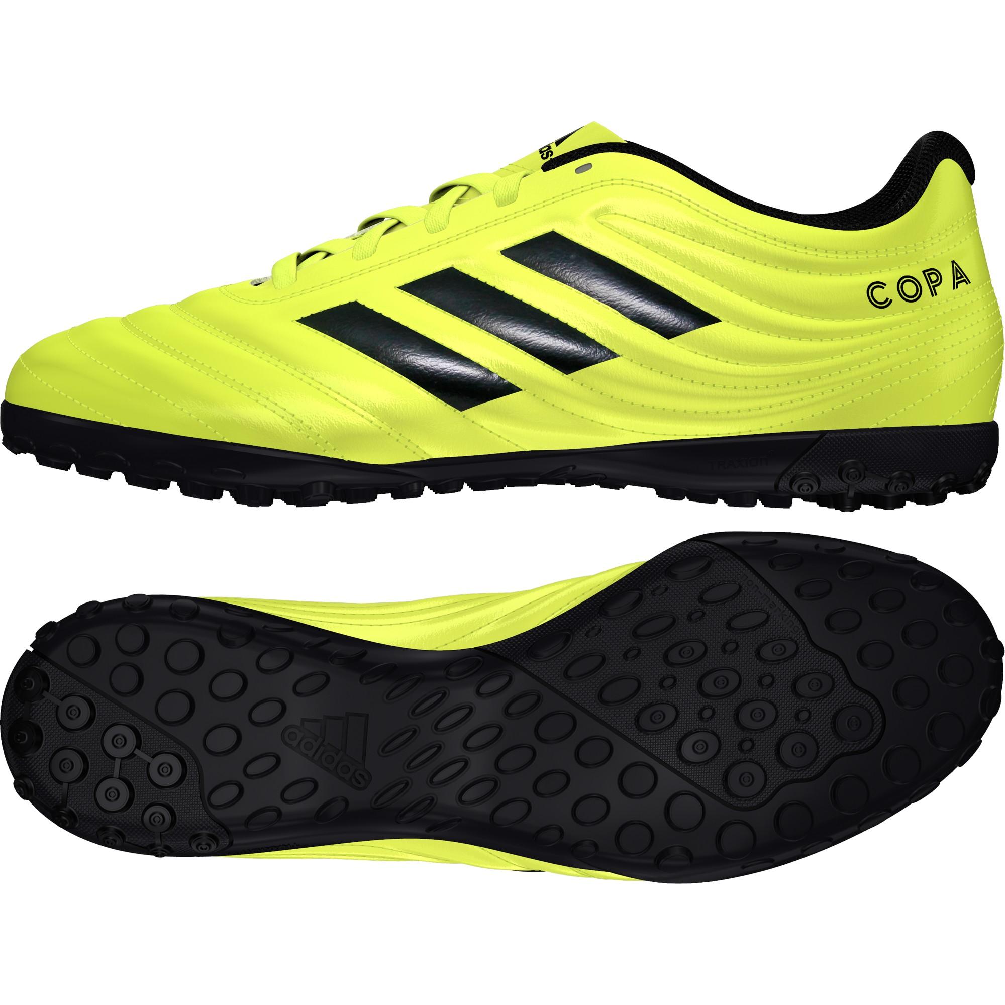 calcio ADIDAS scarpe da calcio copa 19.4 tf giallo nero uomo f35483