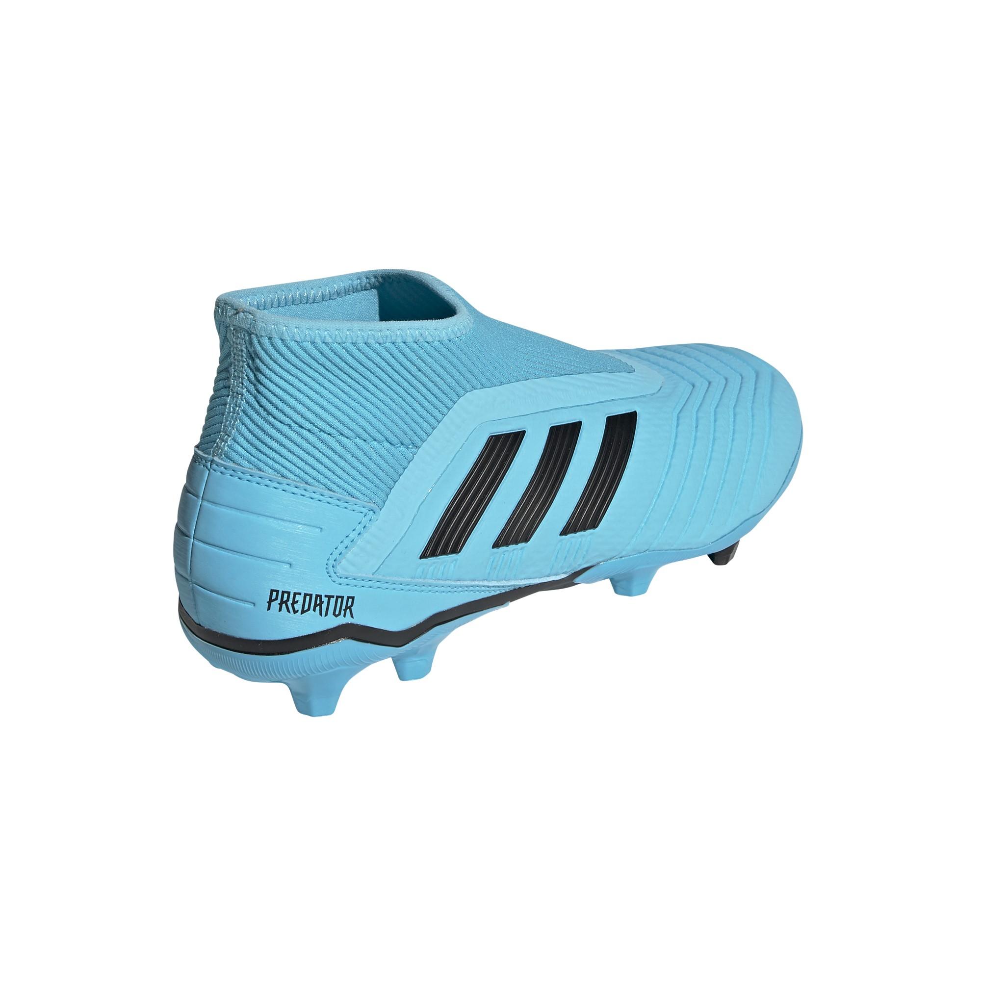 calcio ADIDAS scarpe da calcio predator 19.3 ll fg azzurro nero uom
