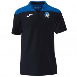 Joma Sport Polo Atalanta Tecnico Nero Azzurro Uomo