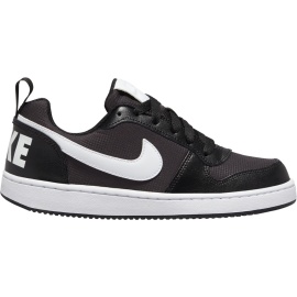 Nike Sneakers Court Borought Pe Low Gs Nero Bianco Bambino