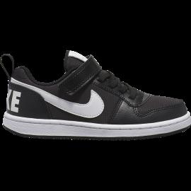 Nike Sneakers Court Borought Pe Low Psv Nero Bianco Bambino