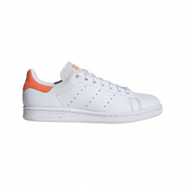 ADIDAS originals sneakers stan smith lea bianco arancio donna