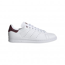 ADIDAS originals sneakers stan smith lea bianco bordeaux donna