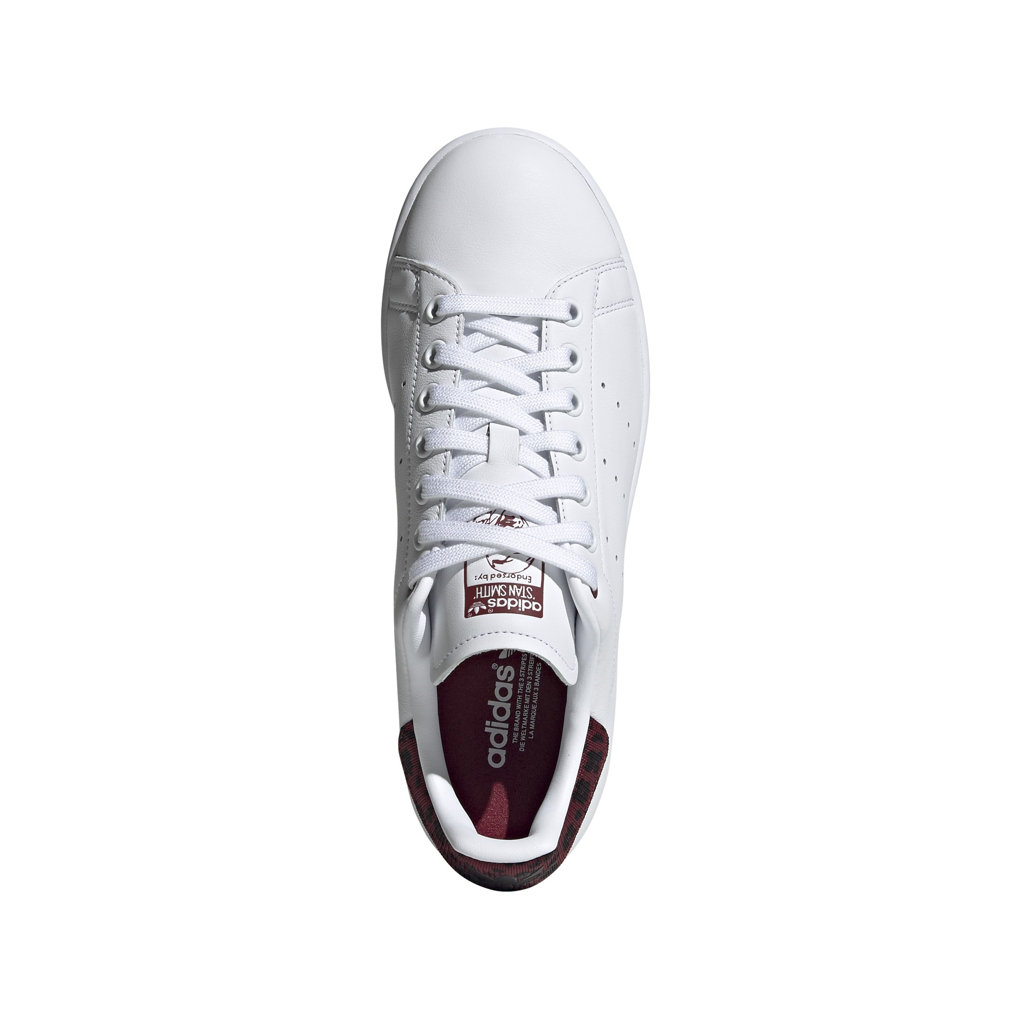 style ADIDAS originals sneakers stan smith lea bianco bordeaux donn