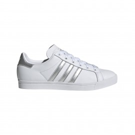 ADIDAS originals sneakers coast star bianco argento donna