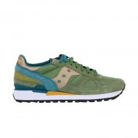 Saucony Sneakers Shadow O Verde Giallo Uomo