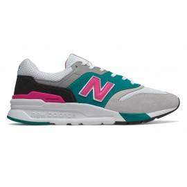 New Balance Sneakers Nb 997 Mesh Verde Fuxia Uomo