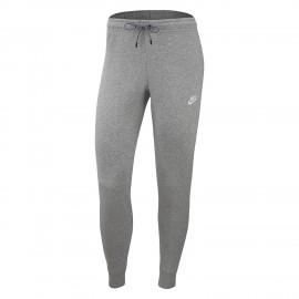 Nike Panta Leggings Sportivi Fleece Grigio Chiaro Donna