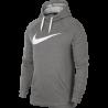 Nike Felpa Palestra Con Cappuccio Logo Train Grigio Uomo