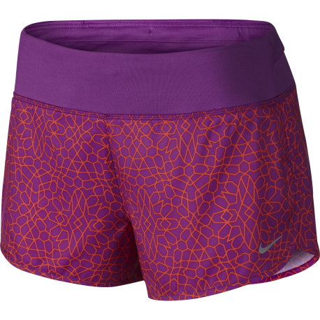 Nike Short Rival 3 Run Fucsia Print Donna