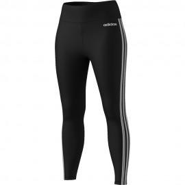 ADIDAS leggings sportivi alti 3 stripe nero donna