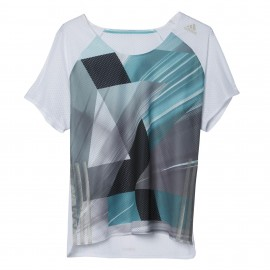 ADIDAS t-shirt mm run adizero white donna