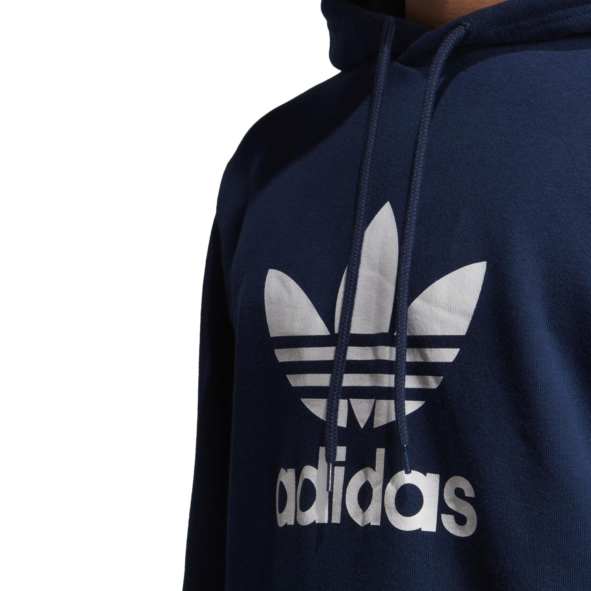 sportshock ADIDAS originals felpa con cappuccio trefoil blu uomo ej