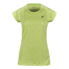 Asics T-Shirt Mm Run Capsleeve Pistachio Print Donna