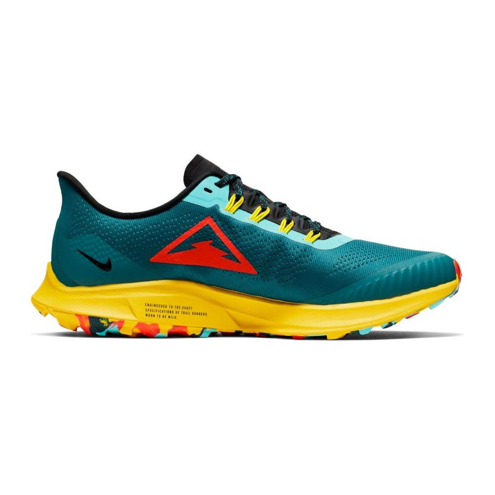 Running Nike Scarpe Air Zoom Pegasus 36 Trail Blu Rosso Uomo AR5677