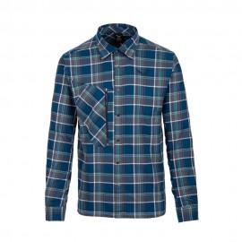 Salewa Camicia Montagna Fanes Flannel Poseidon Blu Uomo