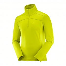 Salomon Felpa In Pile Discovery Hz Lime Uomo