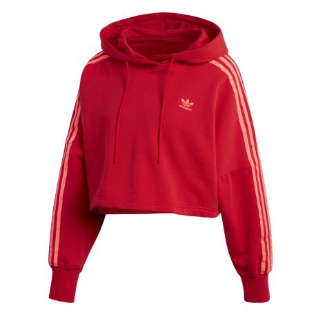 felpa adidas donna cappuccio rossa