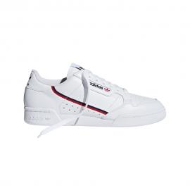 ADIDAS originals sneakers continental 80 bianco rosso uomo