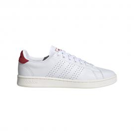 ADIDAS sneakers advantage vintage bianco rosso uomo
