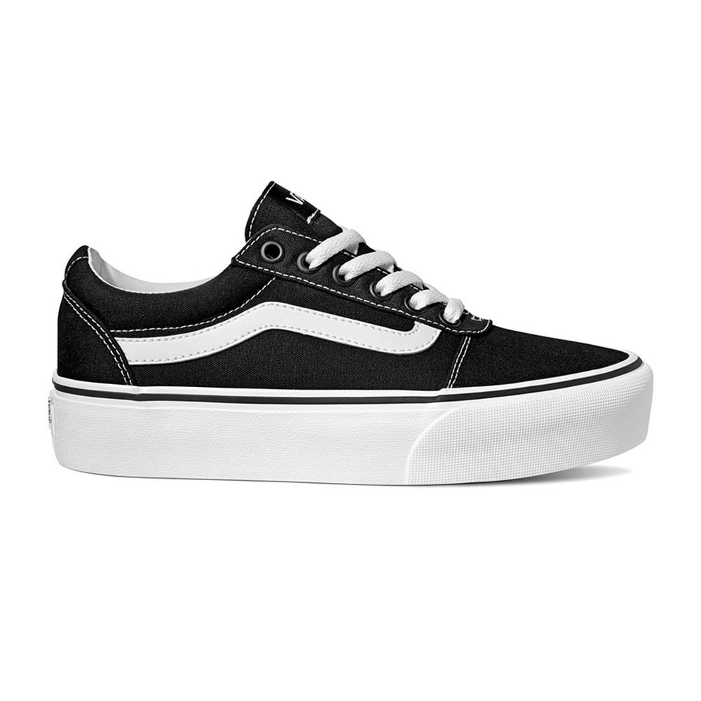 Style Vans Sneakers Ward Platform Canvas Nero Donna VN0A3TLC1871
