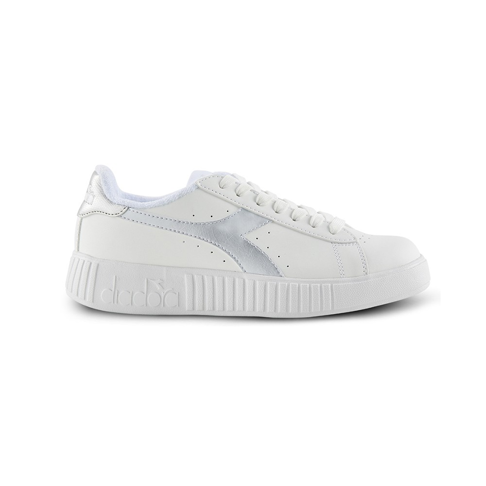 Style Diadora Sneakers Game P Step Bianco Argento Donna 175737 C610