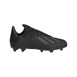 ADIDAS scarpe da calcio x 19.3 fg nero argento bambino