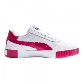Puma Sneakers Cali Brushed Bianco Rosso Donna