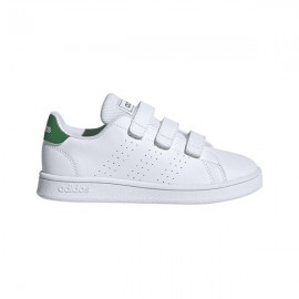 ADIDAS sneakers advantage c bianco verde bambino