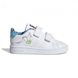 ADIDAS sneakers advantage i bianco azzurro bambino