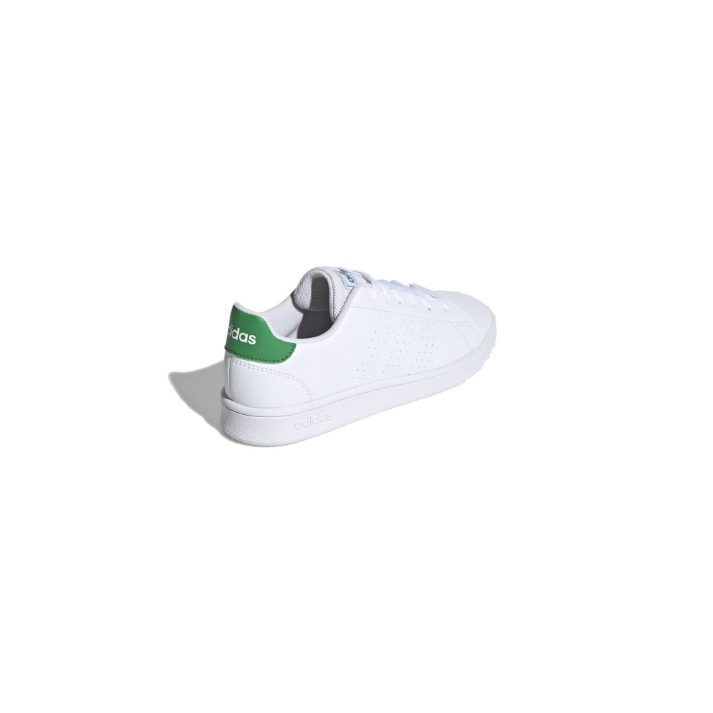 palestra ADIDAS sneakers advantage k bianco verde bambino