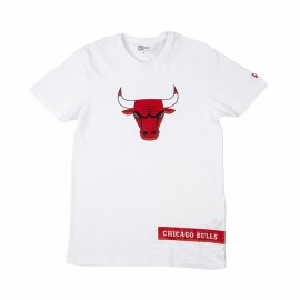 New Era T-Shirt Block Wordmark Chicago Bianco Rosso Uomo