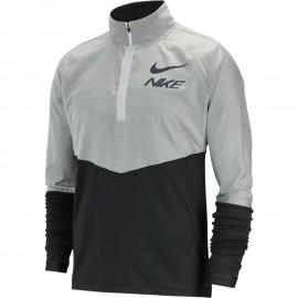 Nike Maglia Running Manica Lunga Element Hybrid Zip Nero Bianco Uomo