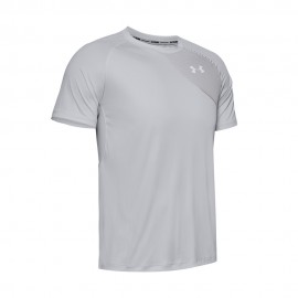 Under Armour Maglia Running Qualifier Iso-Chill Gray Uomo