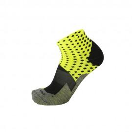 Mico Sport Calze Running Argento Xt2 Light Giallo Fluo Uomo