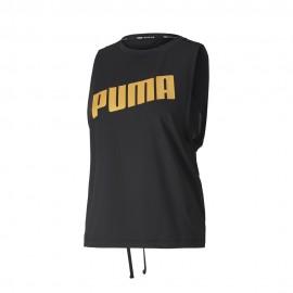 Puma Canotta Palestra Train Logo Nero Donna