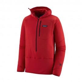 Patagonia Felpa Trekking In Pile R1 Pullover Rosso Uomo