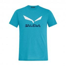 Salewa Maglia Trekking Solidlogo Danube Blu Uomo