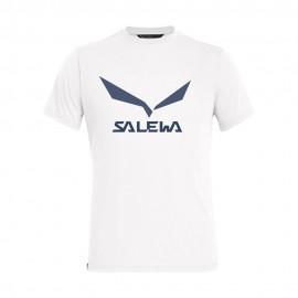 Salewa Maglia Trekking Solidlogo Bianco Uomo