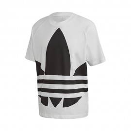 ADIDAS originals t-shirt big logo bianco uomo