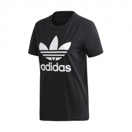 ADIDAS originals t-shirt trefoil nero donna