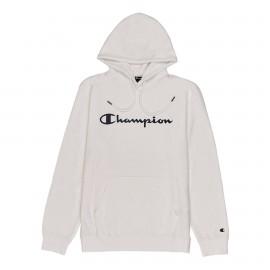 Champion Felpa Logo C Cappuccio Bianco Uomo