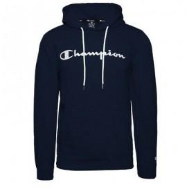 Champion Felpa Logo C Cappuccio Blu Uomo